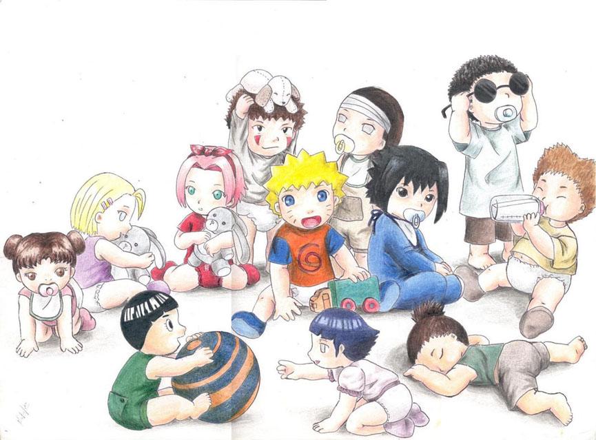 Chibi Baby Naruto Characters Ninjas